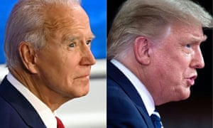 Joe Biden and Donald Trump at Thursday night's town halls.