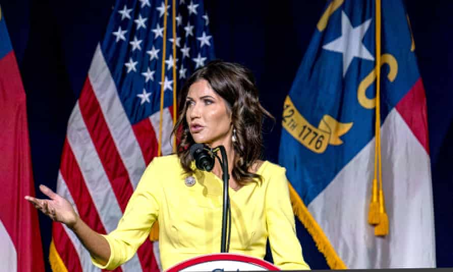 Governor Kristi Noem's deployment of national guard troops is reportedly funded by a private donation from a Tennessee-based non-profit that has donated to Donald Trump and the NRA.