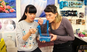 Dr Christina Chau and artist Georgie Mattingley