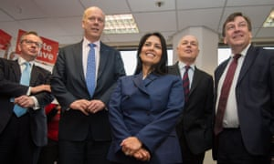 Michael Gove, left, pictured with, from left, Chris Grayling, Priti Patel, Iain Duncan Smith and John Whittingdale at the launch of the Vote Leave campaign at the group's headquarters in central London.