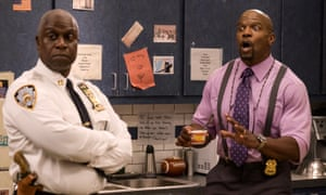 Andre Braugher and Terry Crews in Brooklyn Nine-Nine.