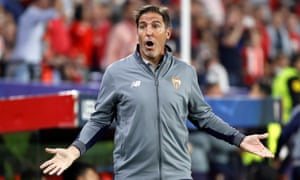 Sevilla's former head coach, Eduardo Berizzo, who has been dismissed a week after returning from cancer surgery