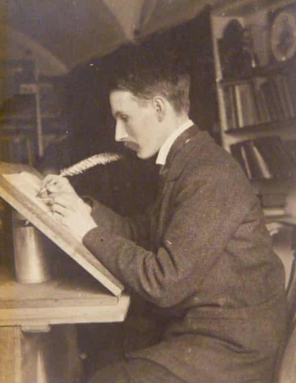 Edward Johnston at his desk