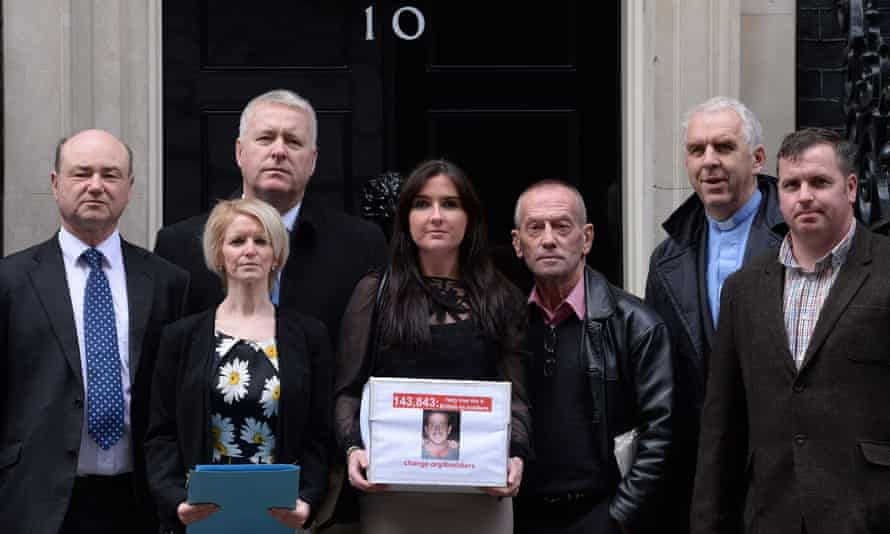 Yvonne McHugh and other relatives petition No 10 for the men's release.