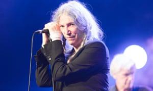 Patti Smith at the Cambridge folk festival.
