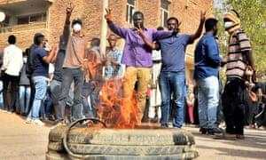 Protesters in Khartoum last week.