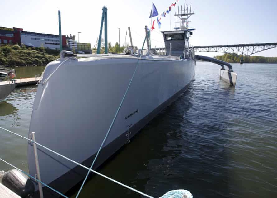 The US launched an autonomous ship, Sea Hunter, on 7 April 2016.