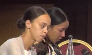 Channel and Kenita Spence nieces of Gary Maunders at the Grenfell Tower fire inquiry