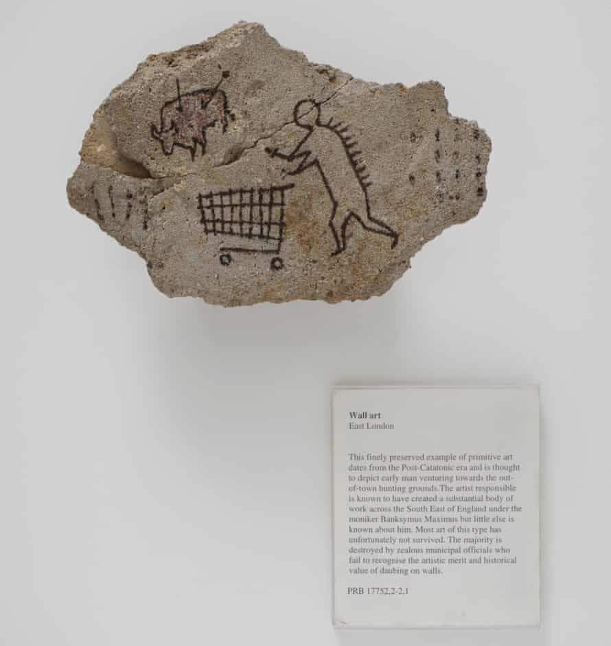 Banksy's hoax object Peckham Rock, which was secretly placed in a British Museum gallery in 2005 and is now in Ian Hislop's show I Object.