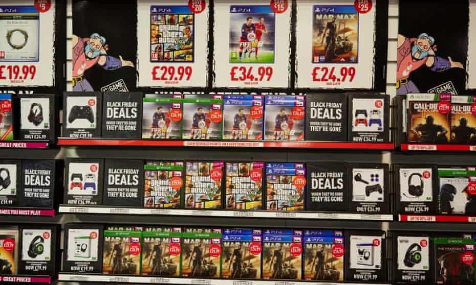 Deals, deals, deals … the modern gaming store.