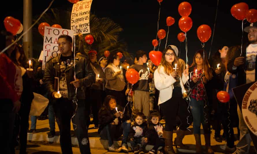 People protest against police shootings in Kern county, which has the highest rate of deaths in the US.