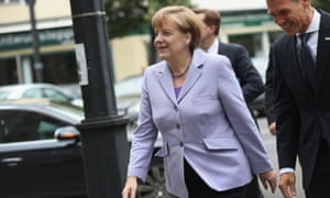 German chancellor Angela Merkel has been accused of 'punishing' Greece.