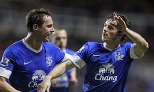 Leighton Baines (right) and Phil Jagielka have played a combined 600-plus league games for Everton but both are out of contract in the summer.