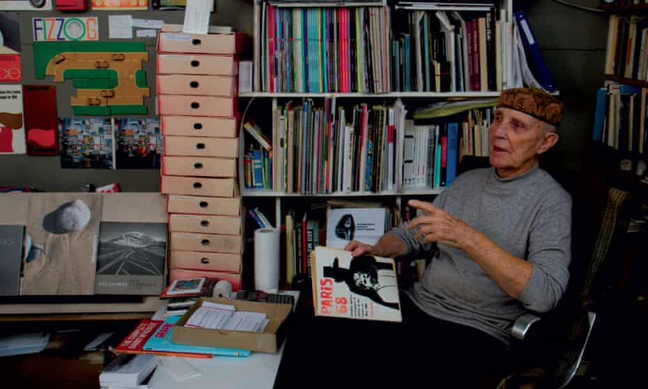 Ken Garland in his studio. As the historian Robin Kinross noted, he belonged to 'the first generation of fully fledged graphic designers in Britain'.