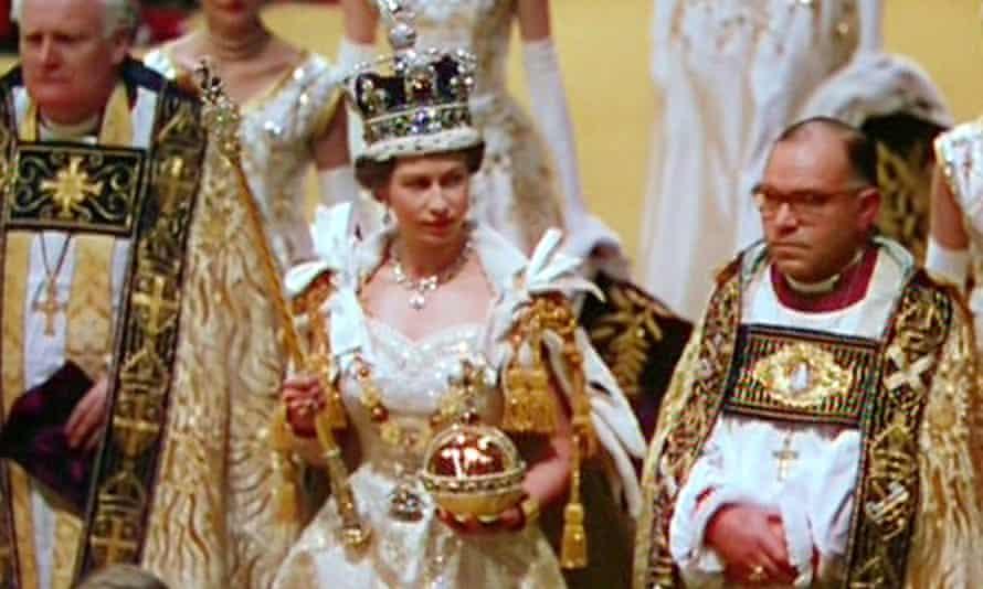 The newly crowned Elizabeth II