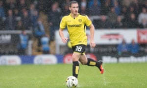 Will Miller in action for Burton during last season's loan spell. Leaving Spurs was difficult but he says: 'It's stepping into the big boy world – this is it now.'
