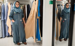 Getting in gear: Eman Joharjy, designer of practical running and biking abayas, is launching special abayas for drivers.