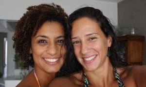 Family photographs of Mônica Benício and her late partner, the Rio activist and politician Marielle Franco who was murdered on 14 March 2018