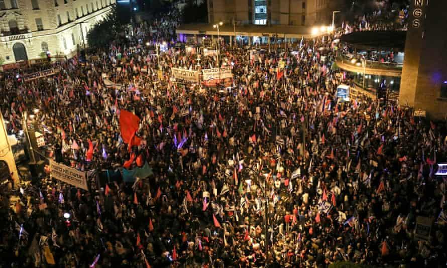 Israelis call for the removal of Israeli prime minister Benjamin Netanyahu