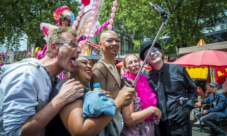 Pink Monday, a day celebrating LGBT people, this week in Tilburg, the Netherlands.