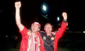 Bryan Robson and Alex Ferguson
