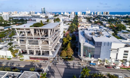 111 Lincoln Road multistorey has parking for 300 cars, shops on the ground level and a fifth-floor fashion boutique.