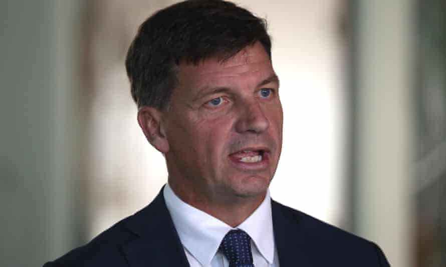 Emissions reduction minister Angus Taylor