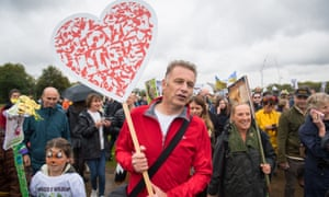 Chris Packham taking part in the People's Walk for Wildlife.
