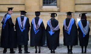 A graduation ceremony at Oxford University in July
