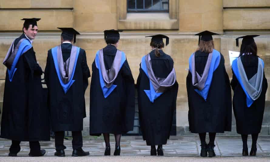 Graduates outside the Sheldonian Theatre, Oxford