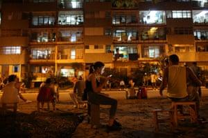 Havana, Cuba A resident uses a mobile phone
