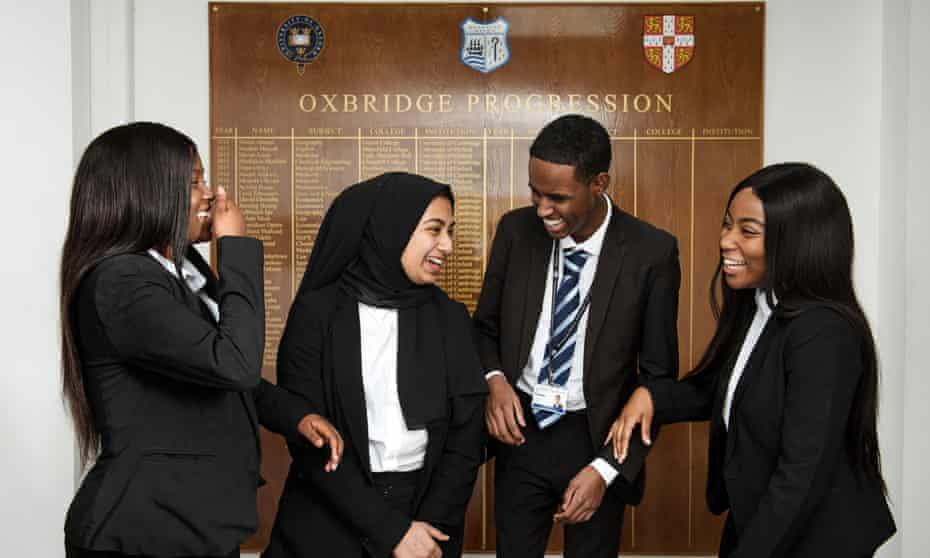 Brampton Manor students with Oxbridge offers