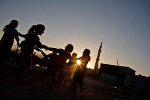Girls enjoying some playtime in Zahlé