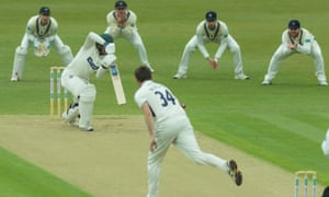 Leicestershire managed 36/3 against Middlesex