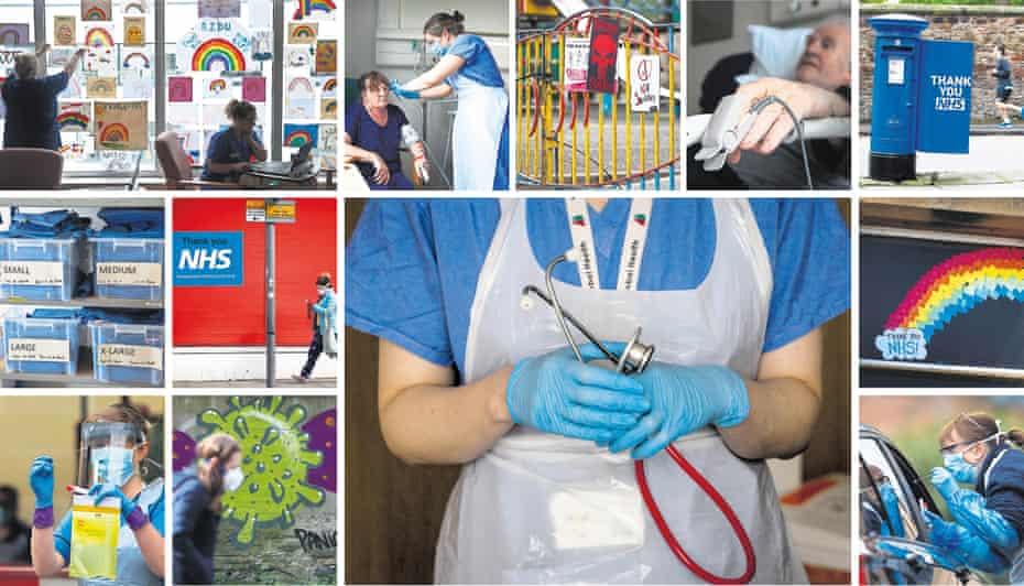 composite image of scenes in Scotland during the coronavirus pandemic