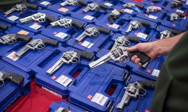 'Thousands upon thousands of handguns, shotguns, rifles and assault weapons were arrayed for inspection '.