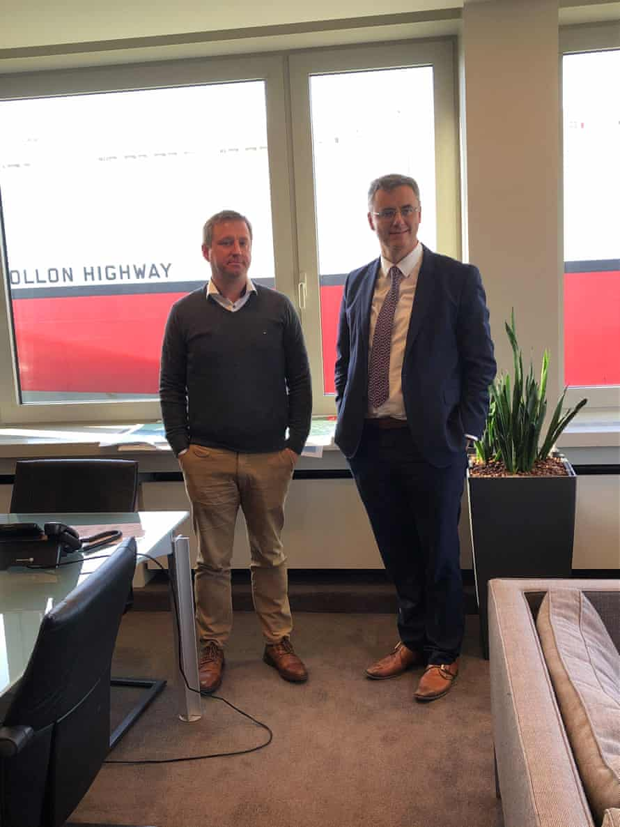 Left: Peter Degroote, Zeebrugge harbourmaster. Right: Ports chief executive Joachim Coens