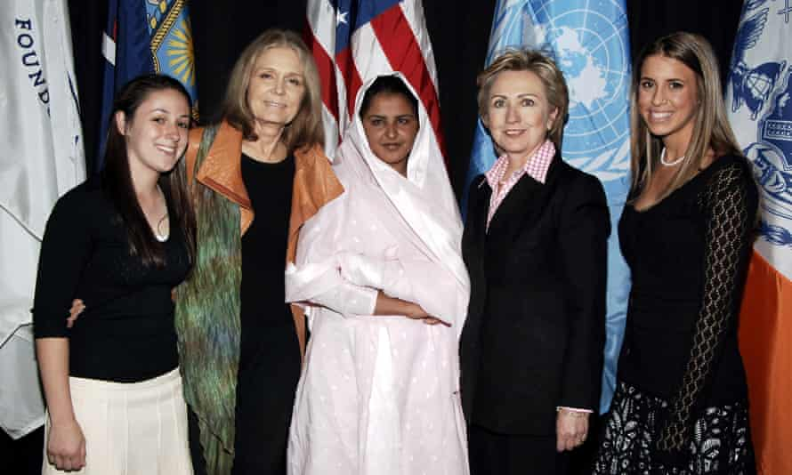 Steinem with Hillary Clinton at a Girls Learn International event in 2006. Photograph: Jemal Countess/WireImage for Glamour Magazine