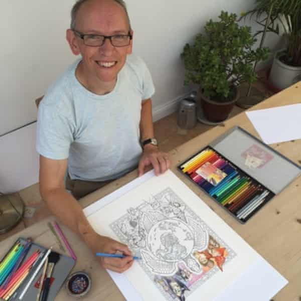Paul Kidby's colouring in