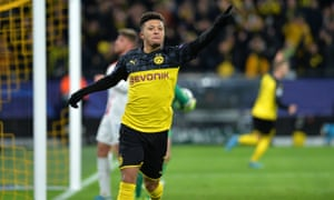 Jadon Sancho scored for Borussia Dortmund on Tuesday night but Chelsea could be interested in the England forward.