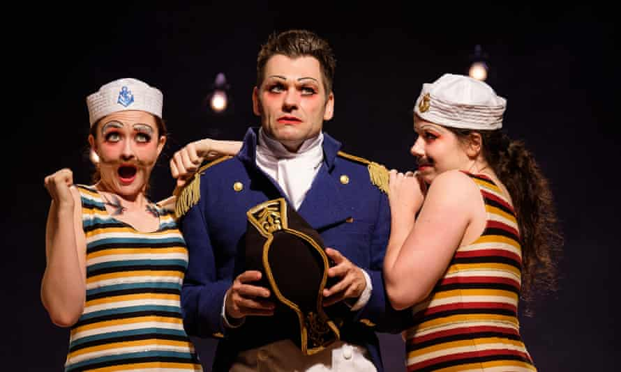 Cast members of HMS Pinafore, showing as part of the Sydney festival.