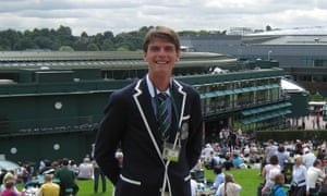 The tennis umpire Denis Pitner at Wimbledon in 2011