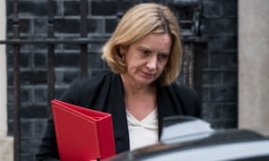 Amber Rudd days before she resigned as home secretary in April 2018