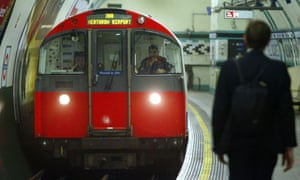 A tube driver on the Piccadilly line in London