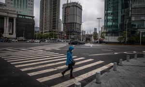 Near-deserted streets in Wuhan during the lockdown
