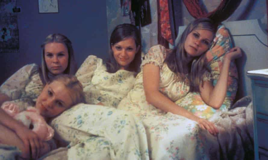 'I was struck by this depth in her eyes, a wise sadness' … Kirsten Dunst, far right, in The Virgin Suicides.