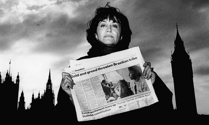 Claudia Andujar in London in 1989.