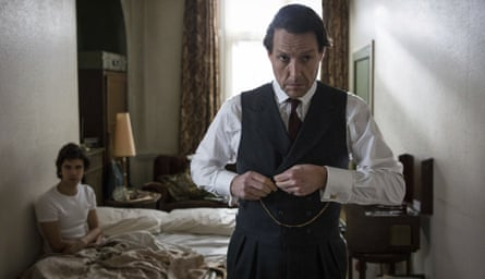 Ben Whishaw, left, and Hugh Grant in A Very English Scandal.