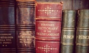 An English dictionary.
