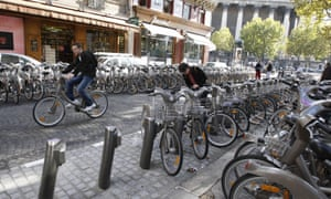City-centre bike stations are often too full to park in.